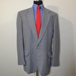 Stafford 42L Sport Coat Blazer Suit Jacket Gray